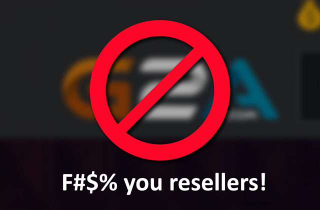 F#$% you resellers!